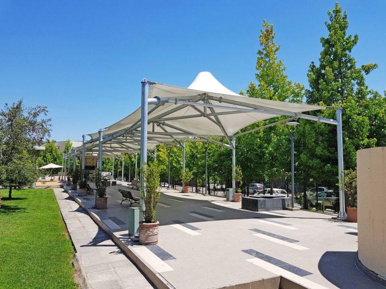 Tensoestructura Terraza Universidad Autónoma de Talca